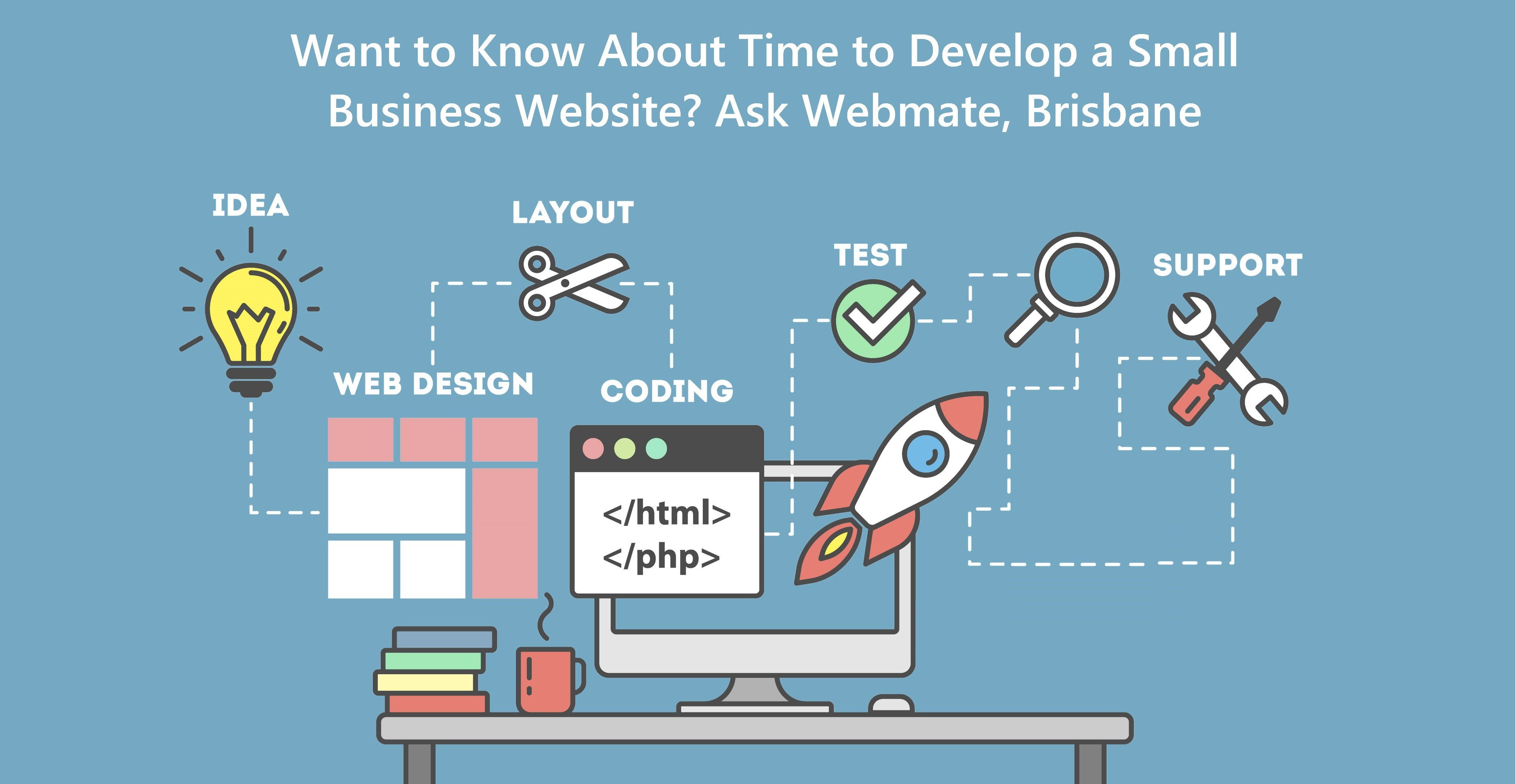 Want to Know About Time to Develop a Small Business Website? Ask Webmate, Brisbane